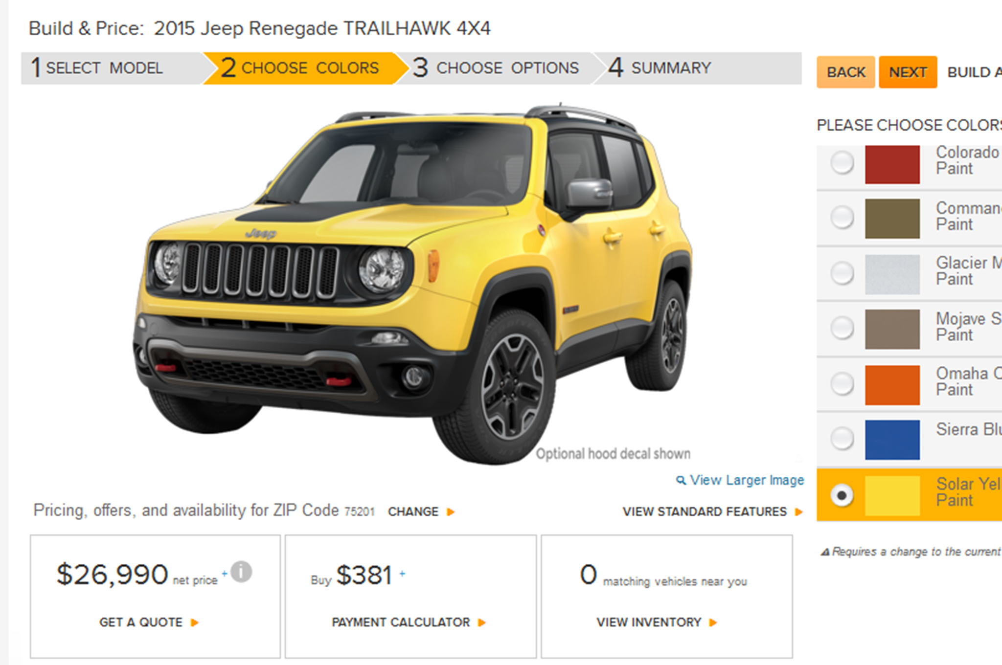 2015 Jeep Renegade Build Your Own Feature Goes line Motor Trend