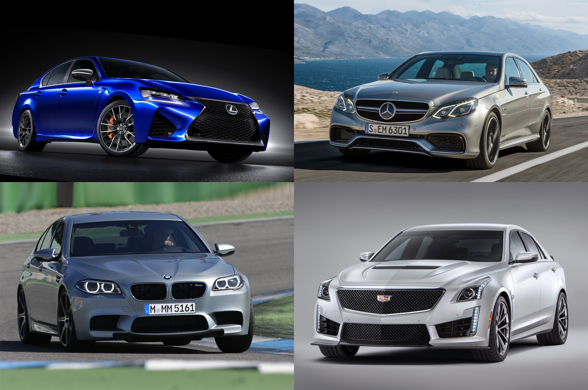 Styling Size-Up: Lexus GS F vs. BMW M5, Cadillac CTS-V, Mercedes E63