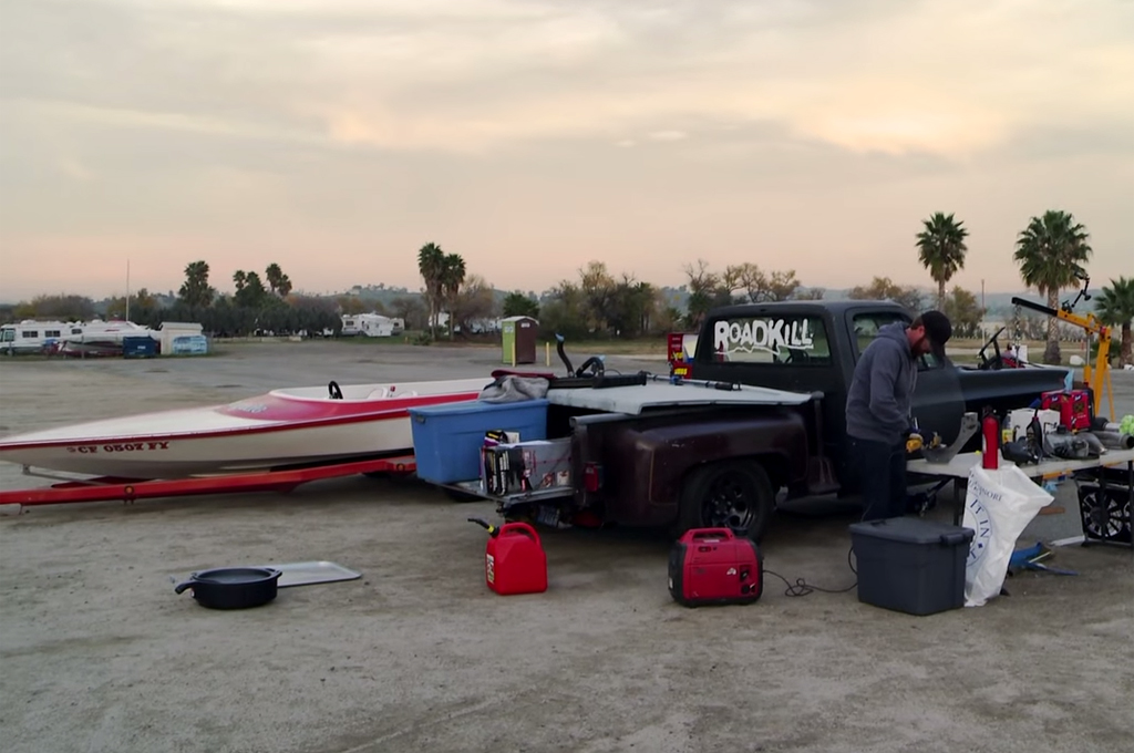 Muscle Truck Engine Swapped To A Jet Boat And Back On Roadkill