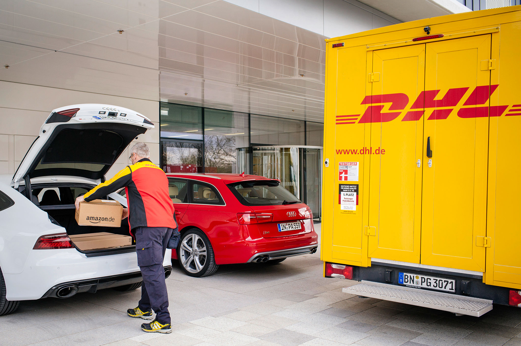 Ship To My Car Dhl And Audi Will Deliver Goods To Your Trunk