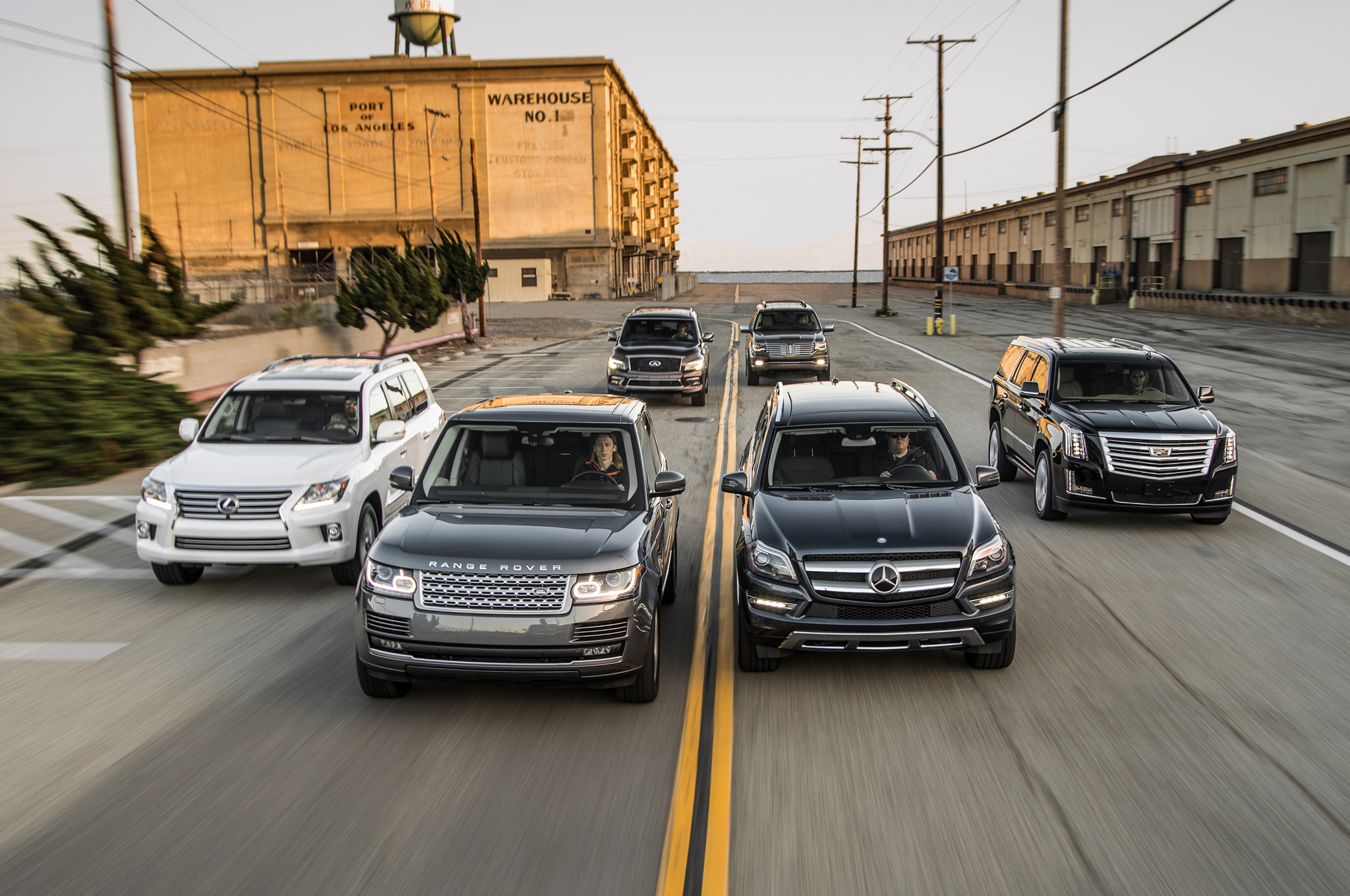 the big test: large luxury suvs - motortrend