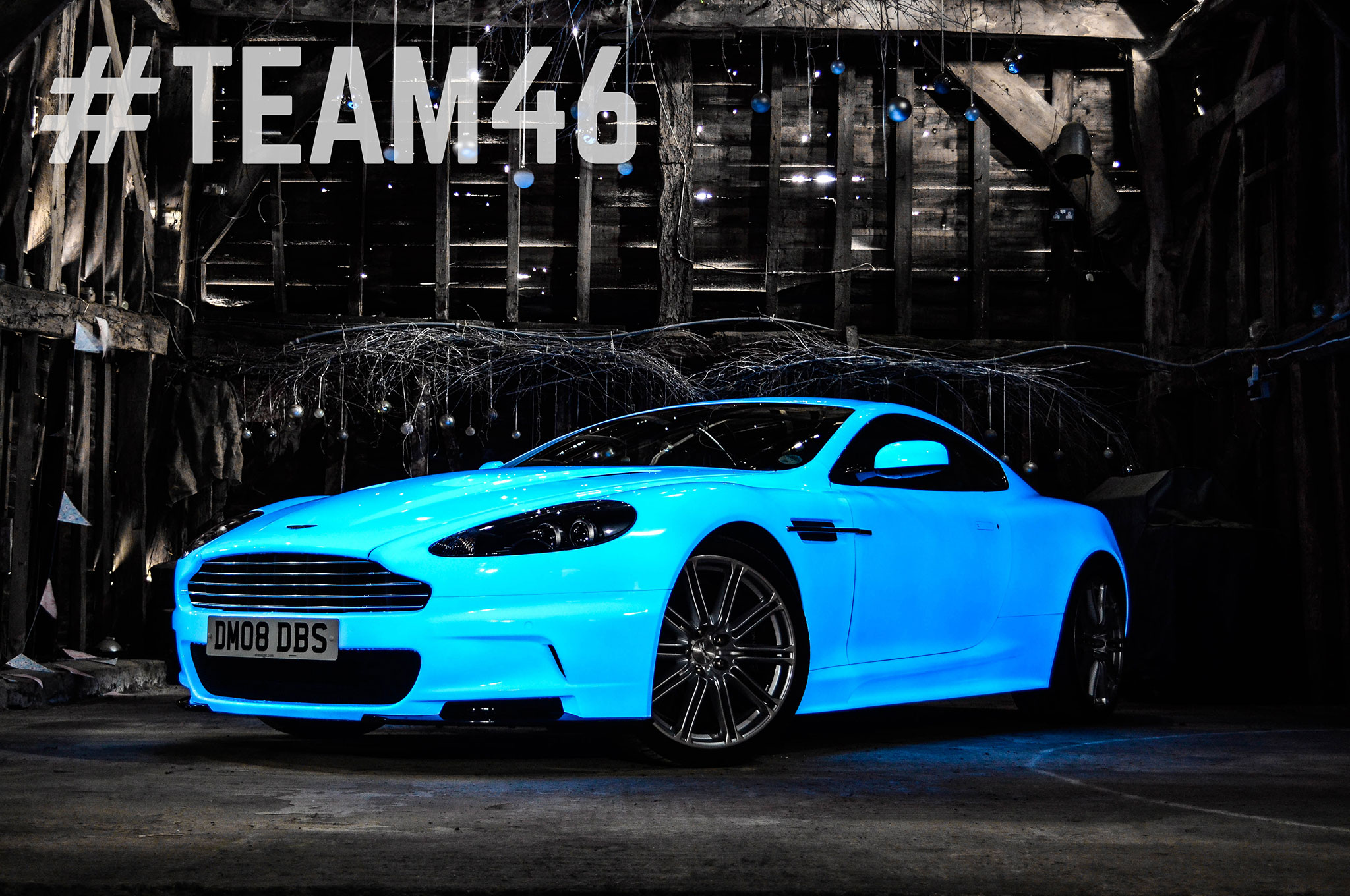 UV-Coated Aston Martin DBS Glows and Goes in Gumball 3000 Rally