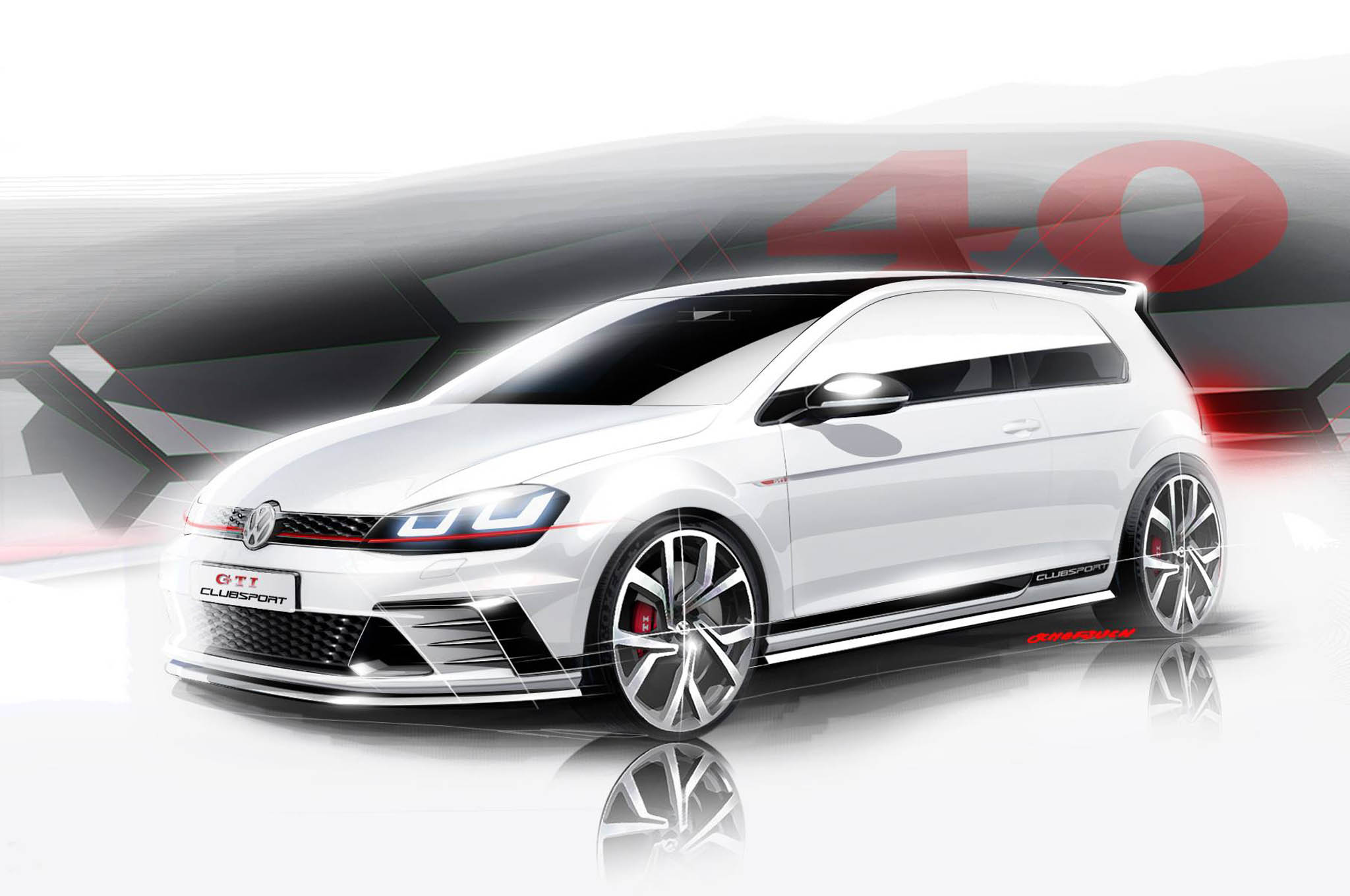 Volkswagen Teases Near-Production GTI Clubsport Ahead of Worthersee