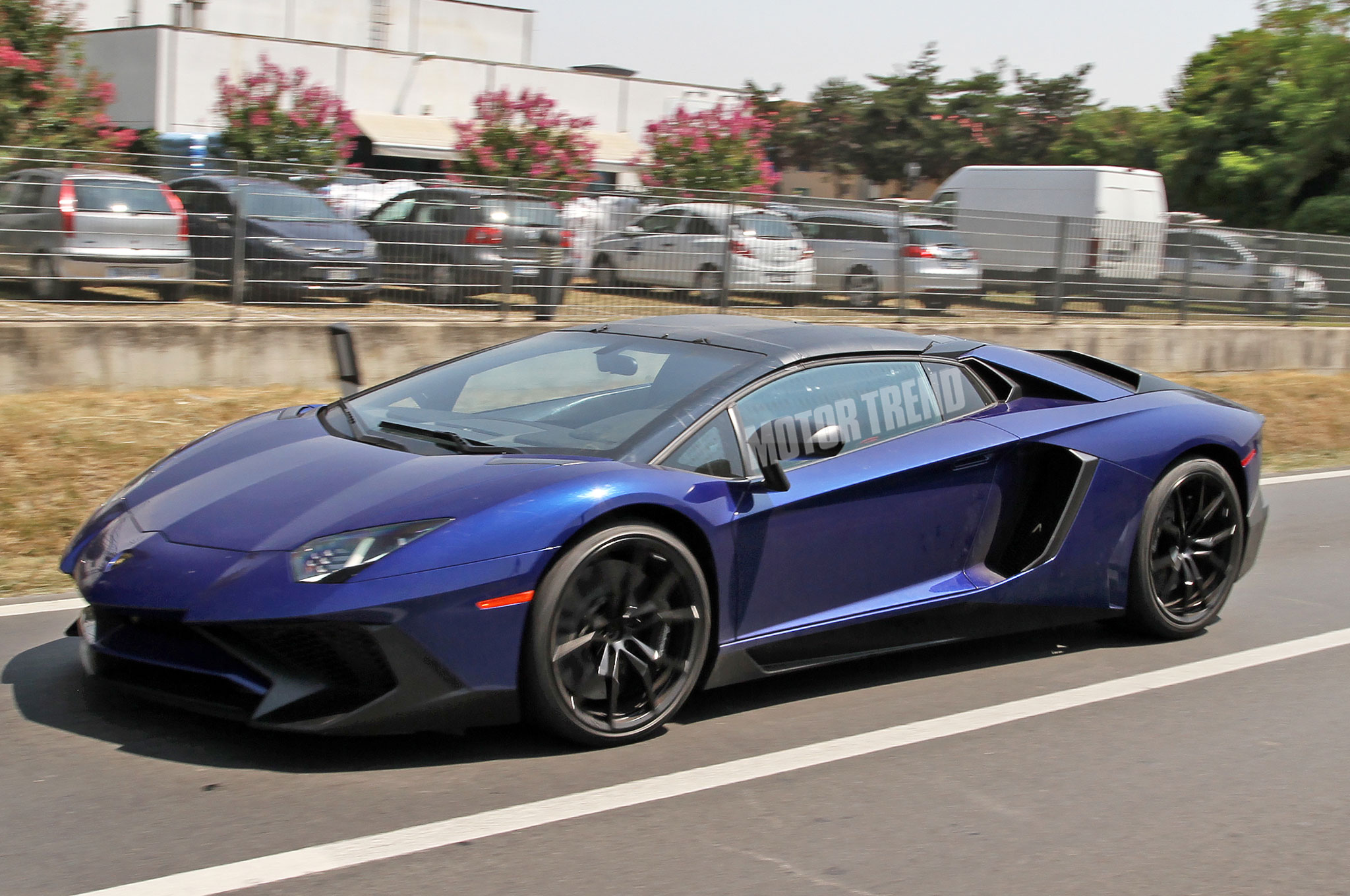Spied! Lamborghini Aventador SV Roadster Exposes its Removable Roof