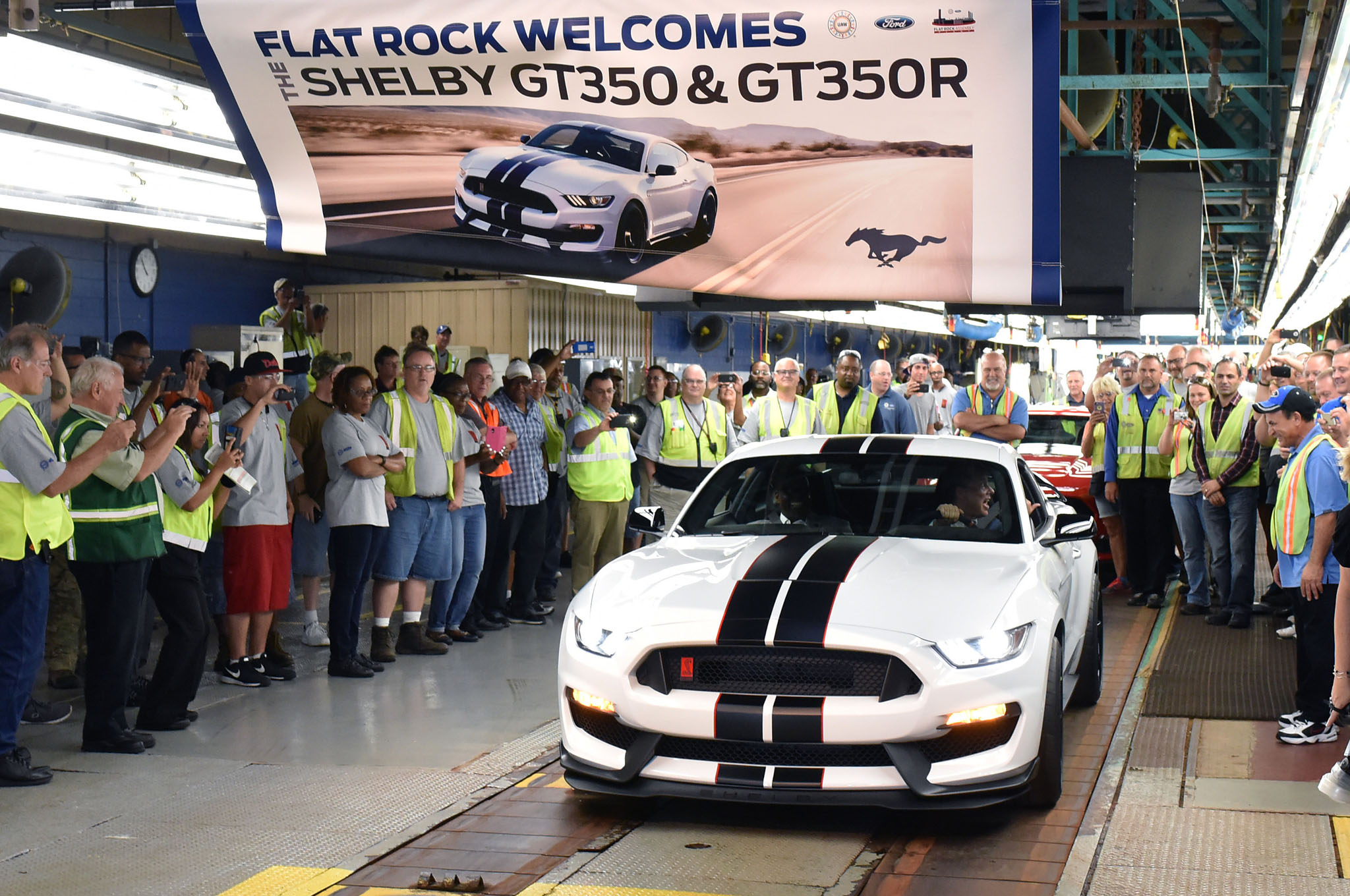 Ford Shelby GT350R Mustang Rolls off the Line