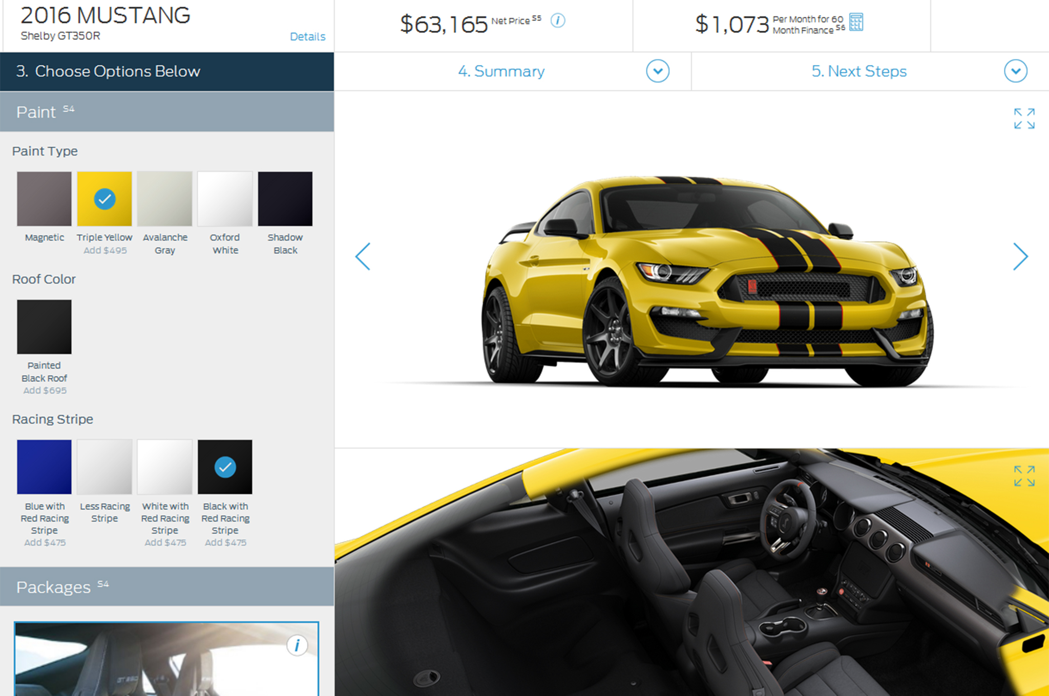Build Your Own Ford >> 2016 Ford Shelby Gt350 Mustang Build Your Own Tool Goes Live